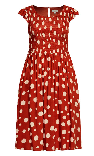 Rylie Print Dress - spice