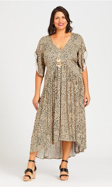 Plus Size Val Print Dress - animal