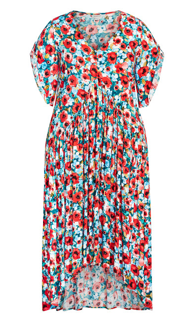 Val Print Dress - poppy