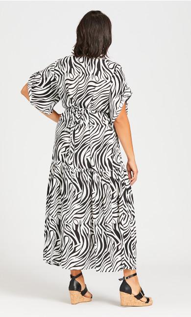 Val Print Dress - white