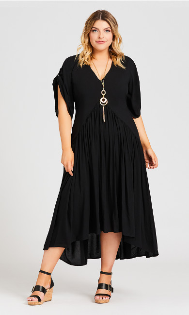 Plus Size Val Dress - black