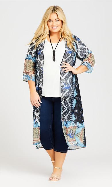 Plus Size Coolcat Kimono - black