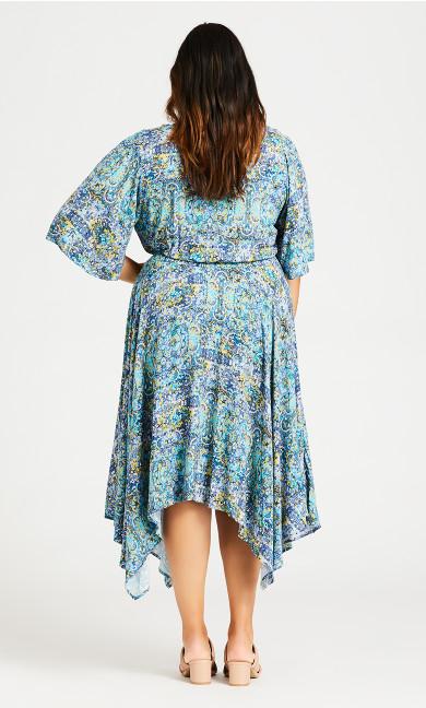 Hanky Hem Maxi Dress - blue