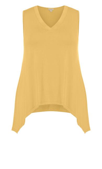 V Neck Swing Tank - mustard