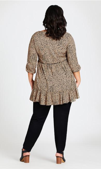 Leopard Stance Tunic - sand