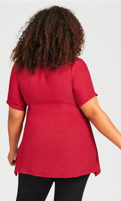 Mylah Layered Tunic - red