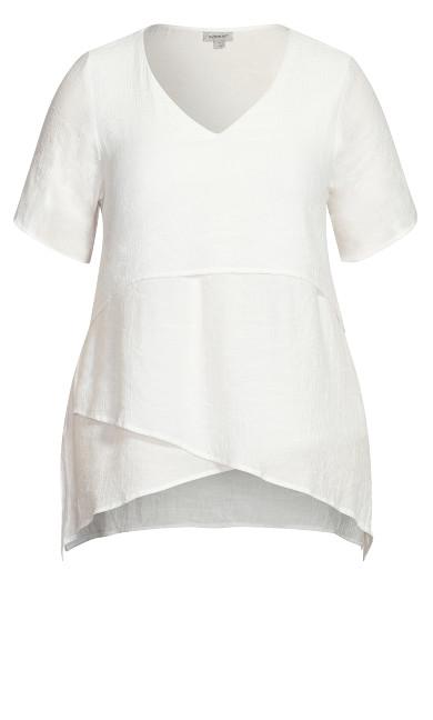Mylah Layered Tunic - white