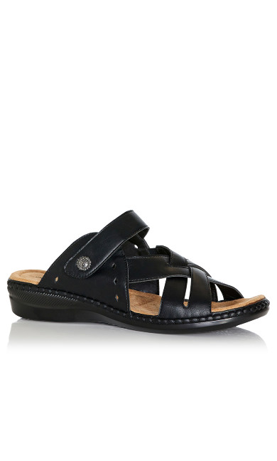 Plus Size Hayley Slide Sandal - black