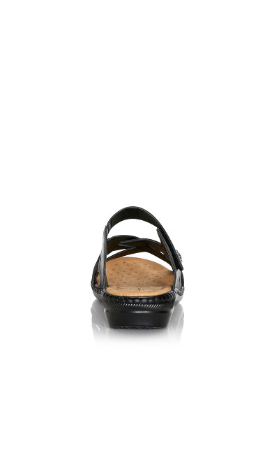 Hayley Slide Sandal - black