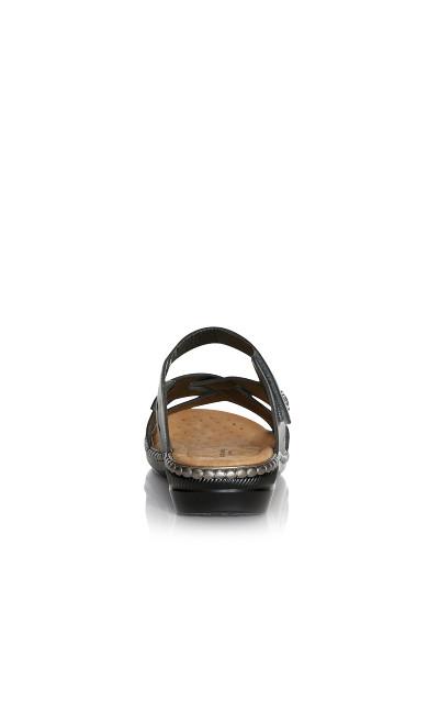 WIDE FIT Hayley Slide Sandal - pewter