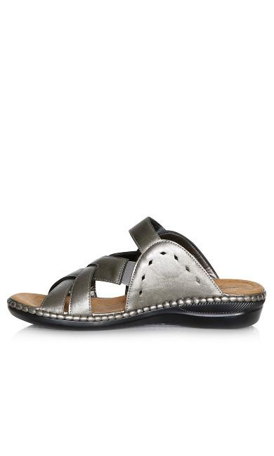 Hayley Slide Sandal - pewter