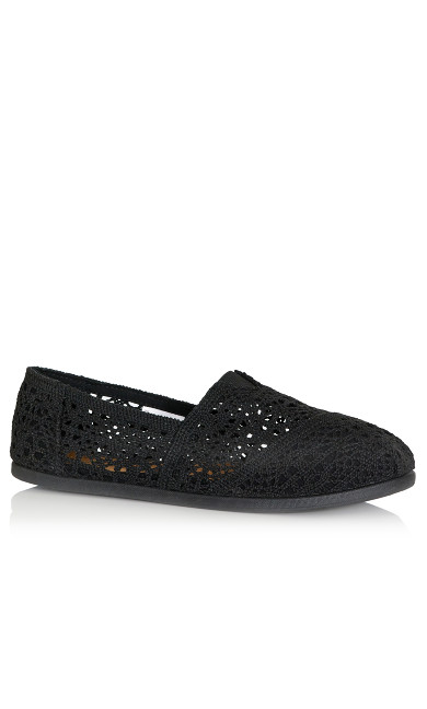 Plus Size Halley Espadrille - black