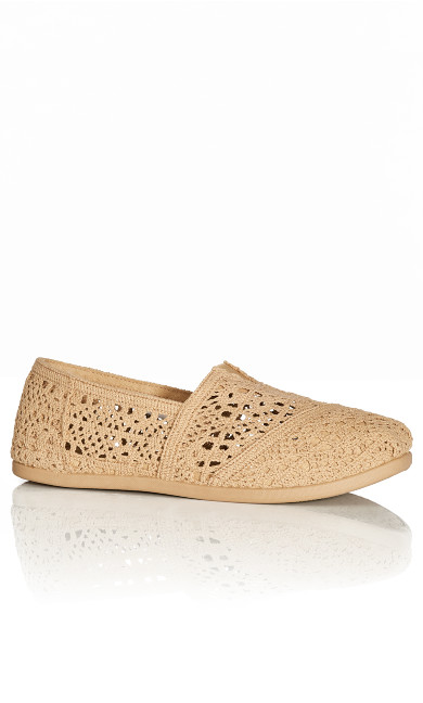 Plus Size Halley Espadrille - tan