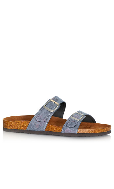 Plus Size Nelly Sandal - blue