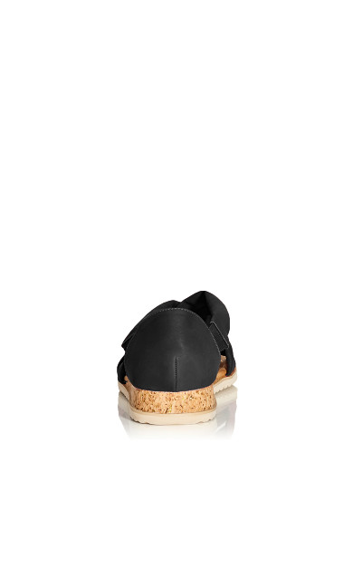Pam Strappy Wedge - black