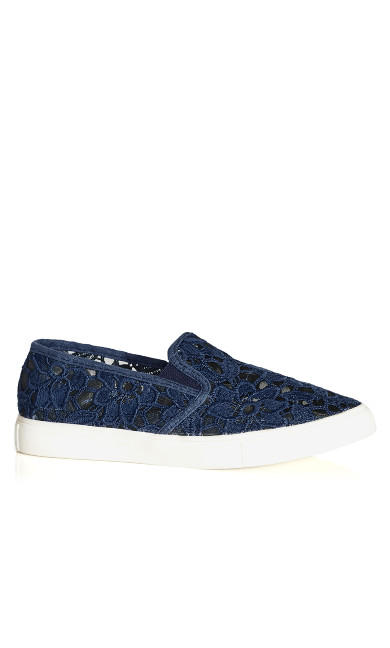 Lacey Slip On - navy