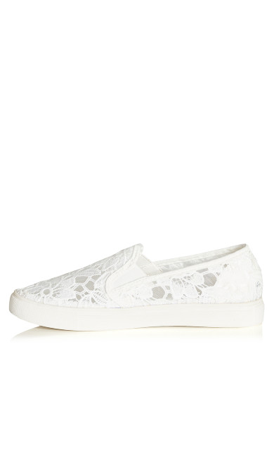 Lacey Slip On - white