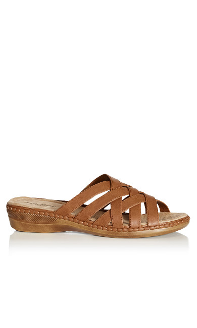 Plus Size Alyse Slide - tan