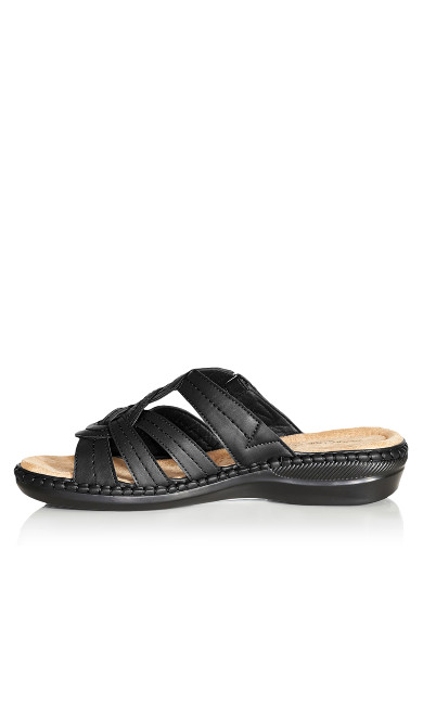 Marin Stitch Slide - black
