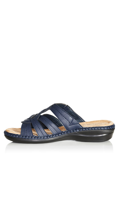 Marin Stitch Slide - navy