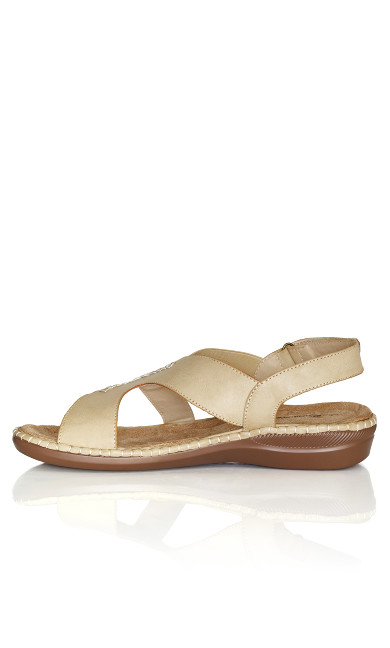 Lisa Sling Back Wedge - camel