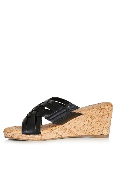 Heather Wedge Sandal - black