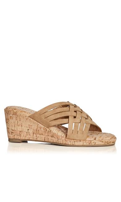 Plus Size Heather Flat Sandal - taupe