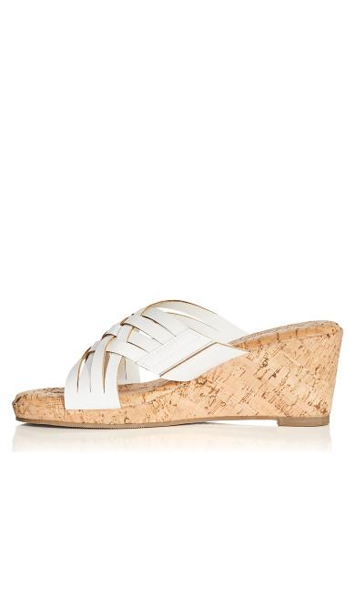 Heather Flat Sandal - white