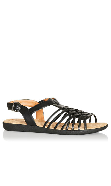 Plus Size Meadow Sandal - black