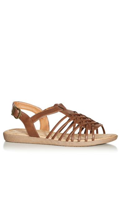 Plus Size Meadow Sandal - tan