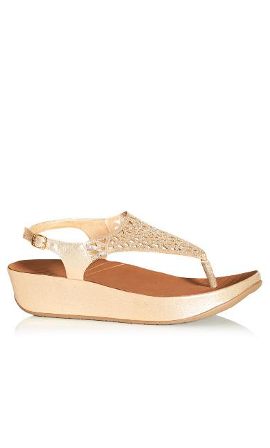 Plus Size Jill Sandal - rose