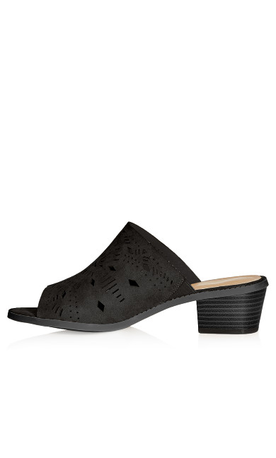 Penny Perforated Slide - black