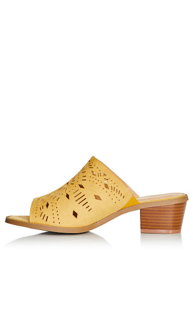 Penny Perforated Slide - mustard