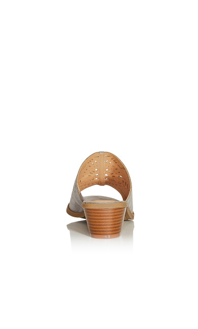 Penny Perforated Slide - taupe