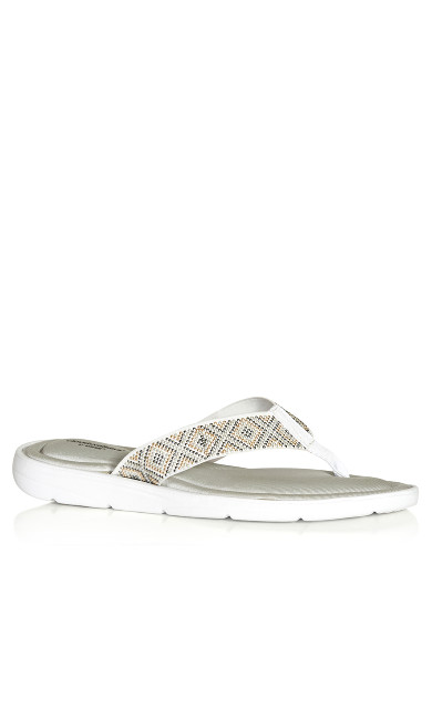 Plus Size Maggie Sandal - white