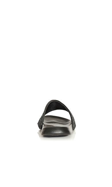 Sally Sparkle Slide - black