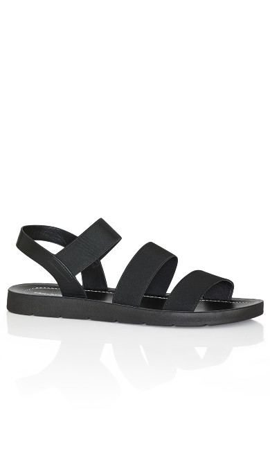Plus Size Gail Slide - black