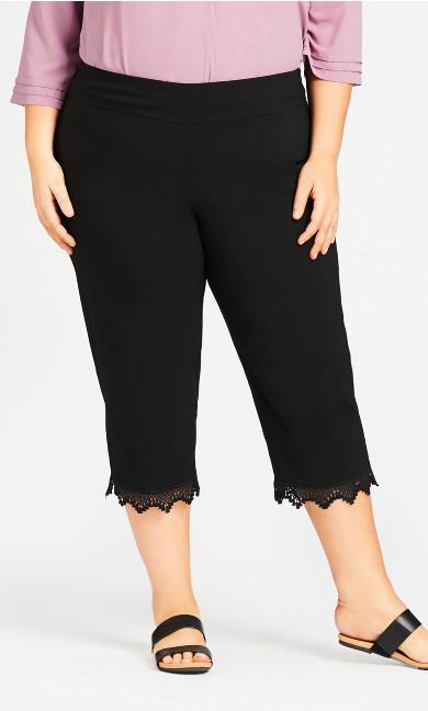 Super Stretch Lace Capri - black