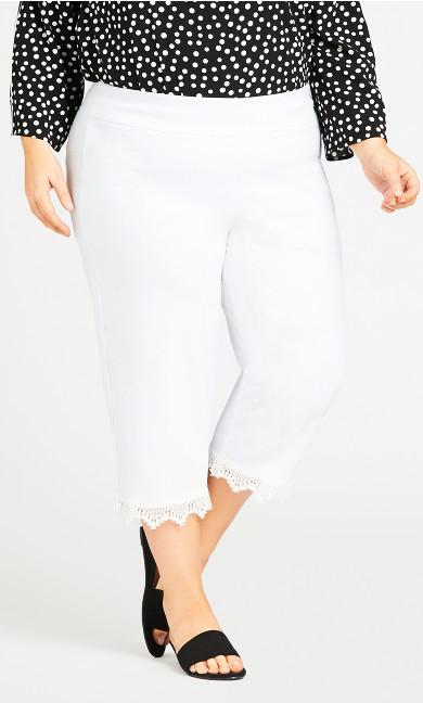 Super Stretch Lace Capri - white
