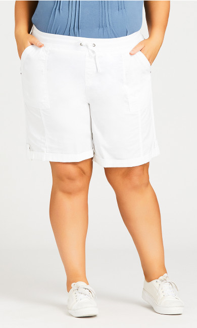 Cotton Casual Short - white