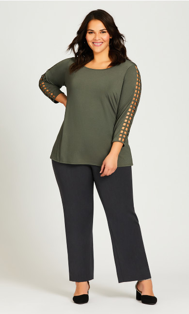 Plus Size Cool Hand Trouser Charcoal - average