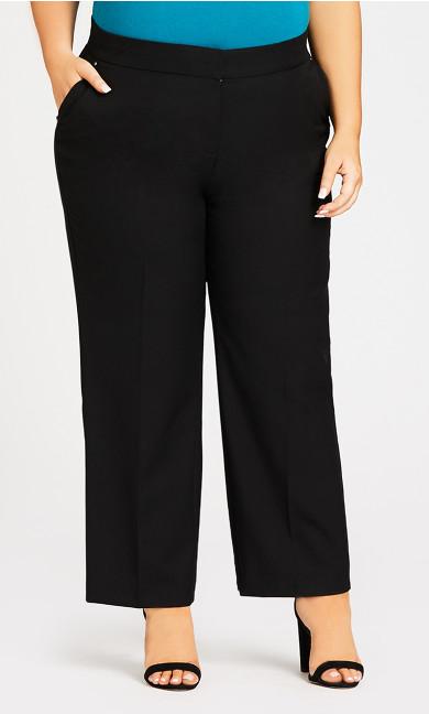 Curvy Tummy Control Trouser Black - average
