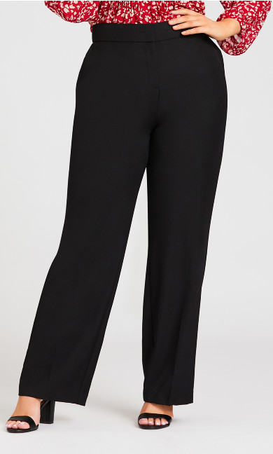 Curvy Tummy Control Trouser Black - tall