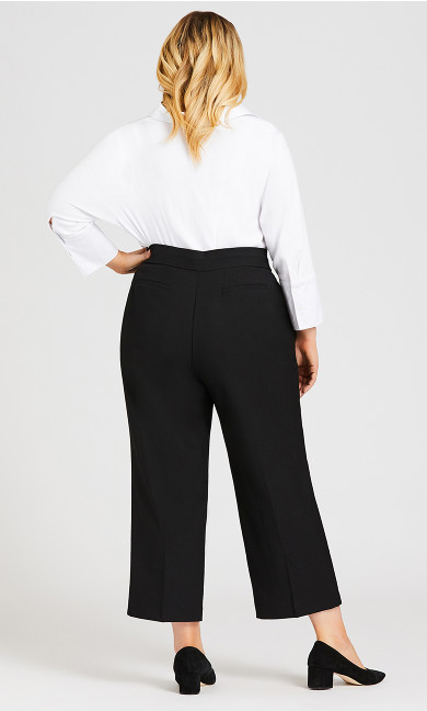 Curvy Tummy Control Trouser Black - petite