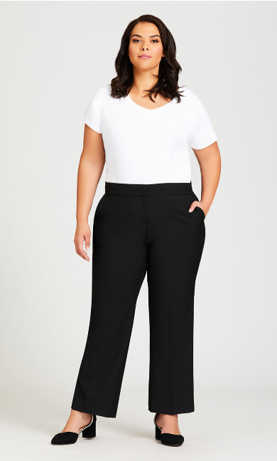 Plus Size Super Stretch Trouser Black - average