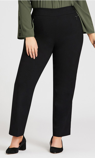 Super Stretch Zip Pant Black - average