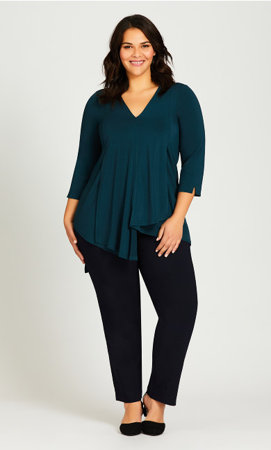 Plus Size Super Stretch Zip Pant Navy - average