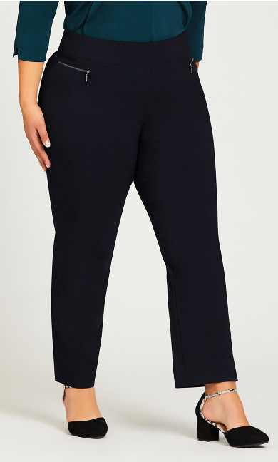 Super Stretch Zip Pant Navy - average