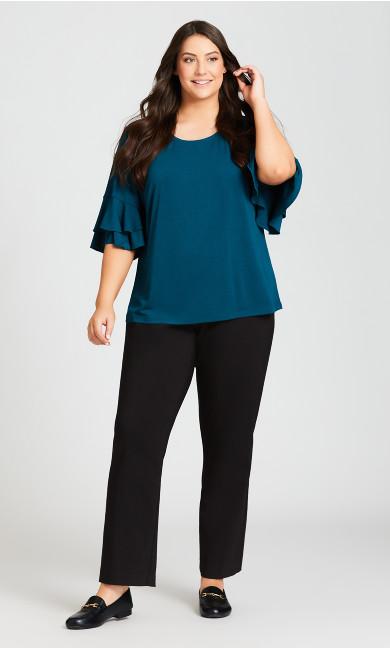 Plus Size Super Stretch Zip Pant Black - Tall