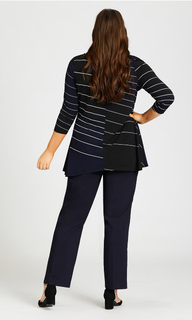 Super Stretch Zip Pant Navy - tall